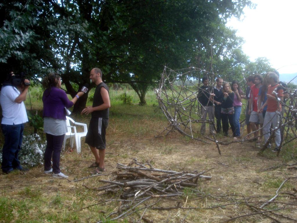 Entrevista a Martín Guiot por el Canal 30. Febrero, 2010. Villa Alegre.Chile.