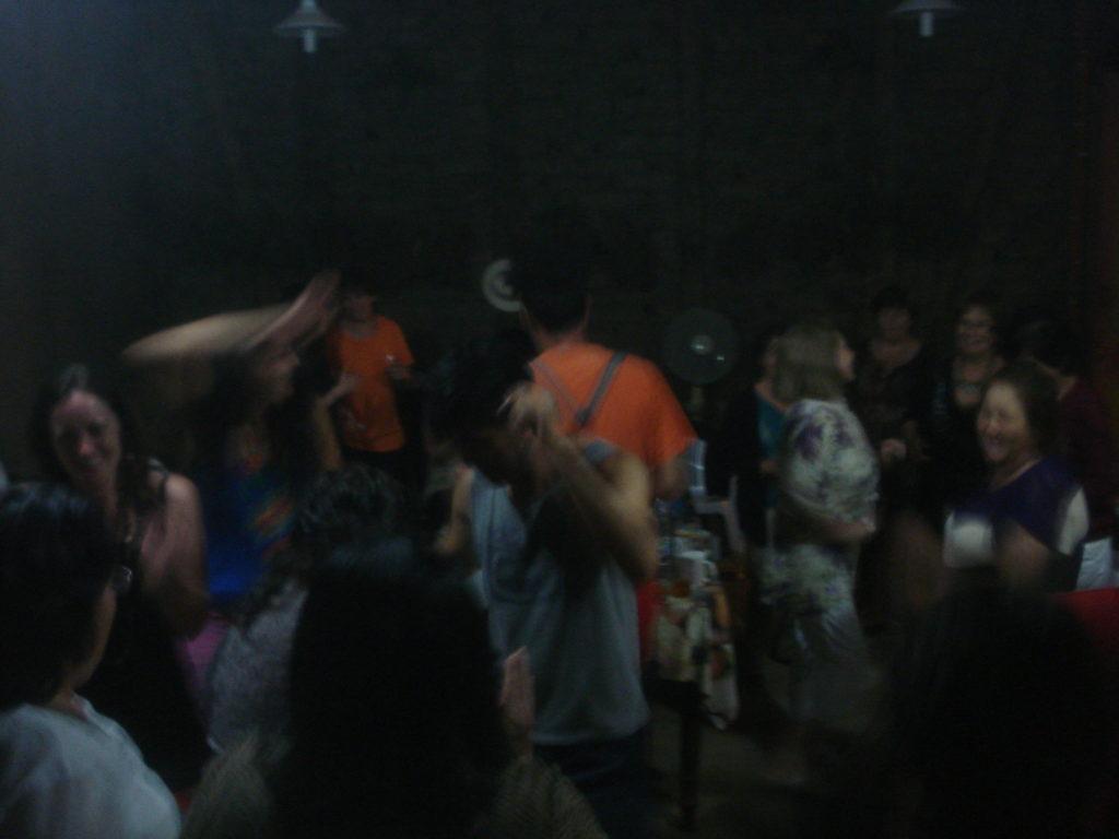 Fiesta en el encuentro Villa Alegre. Chile. Febrero, 2013.
